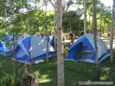 Barracas no Camping
